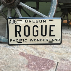 Rogue Ales License Plate Tin Tacker Metal Beer Sign