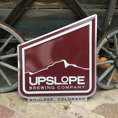 Upslope Brewing Co Large Logo Tin Tacker Metal Beer Sign