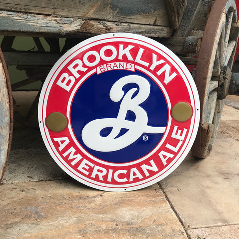 Brooklyn Brewery American Ale Tin Tacker Metal Beer Sign