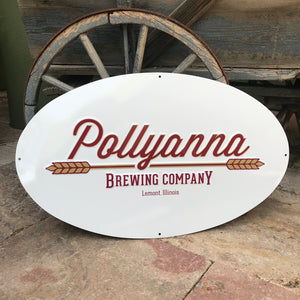 Pollyanna Brewing Co Metal Beer Sign Tin Tacker
