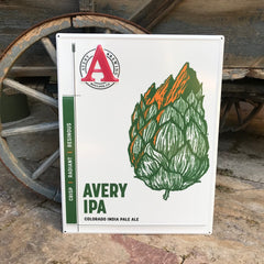 "Avery Brewing Co ""Colorado India Pale Ale"" Tin Tacker Metal Beer Sign"