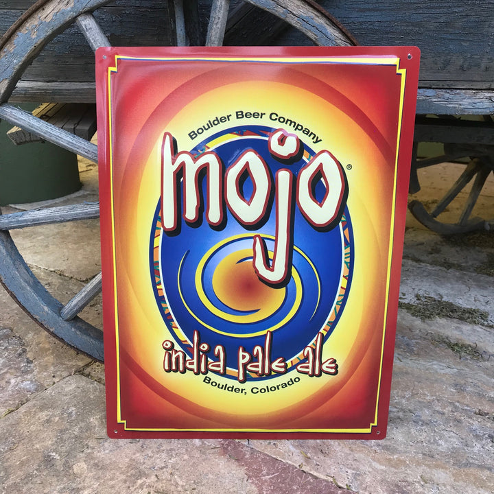 Boulder Beer Co Mojo IPA Tin Tacker Metal Beer Sign