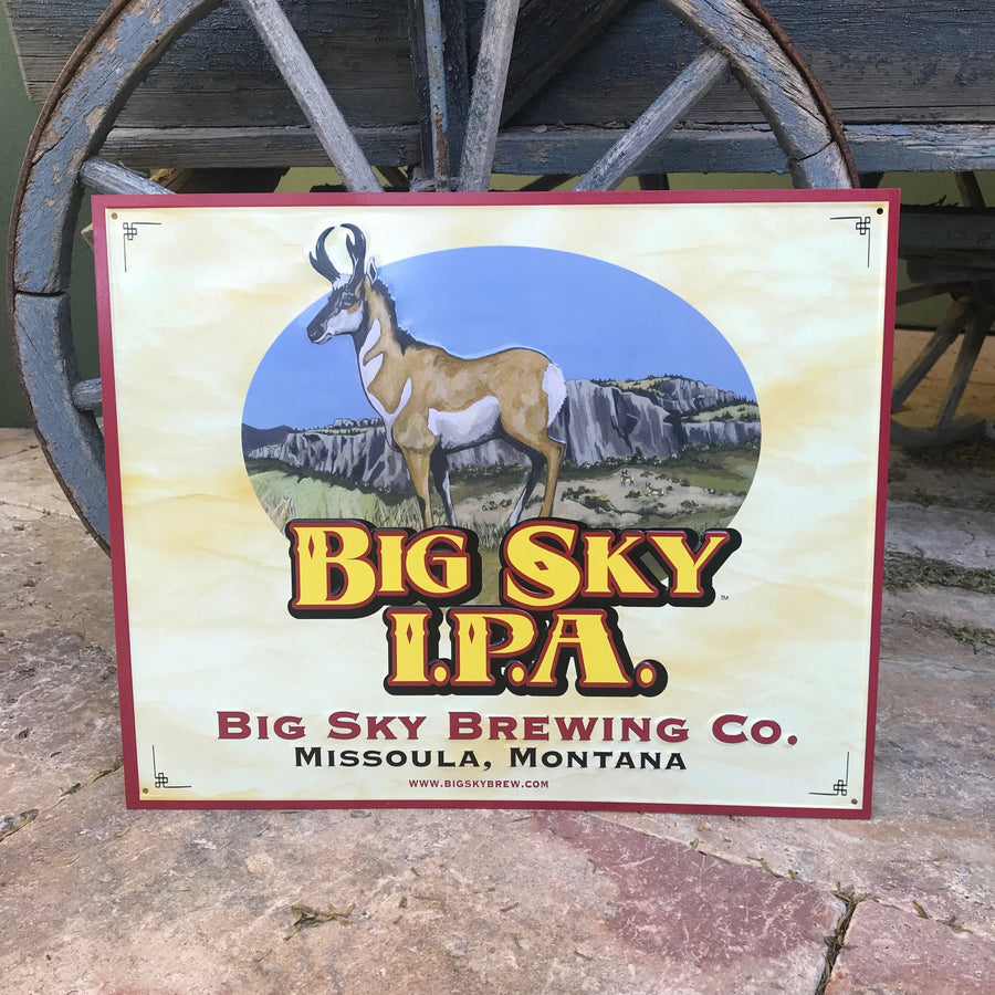 Big Sky Brewing Co IPA Tin Tacker Metal Beer Sign