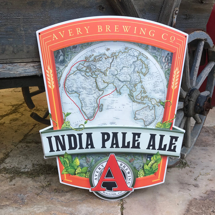 Avery Brewing Co IPA Embossed Aluminum Sign Tin Tacker