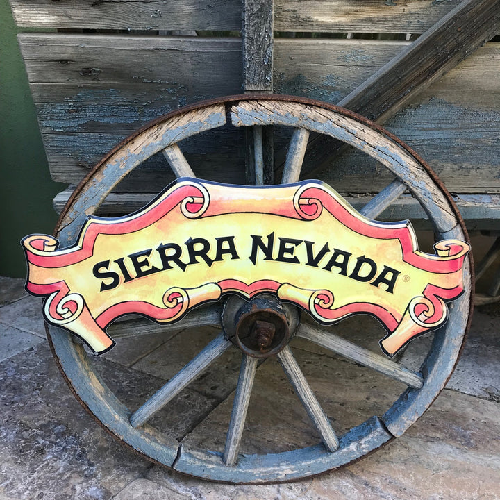 Sierra Nevada Brewing Co Logo Tin Tacker Metal Beer Sign