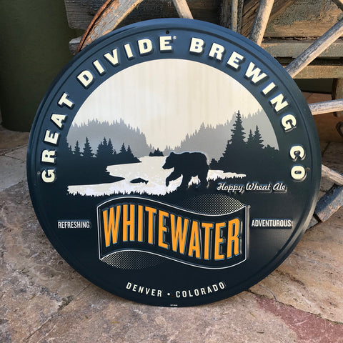 Great Divide Brewing Co Whitewater Wheat Tin Tacker Metal Beer Sign