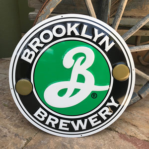 Brooklyn Brewery Large Tin Tacker Metal Beer Sign