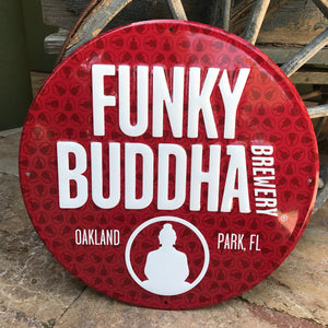 Funky Buddha Brewery Logo Tin Tacker Metal Beer Sign