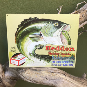 "Vintage Look ""Heddon Fishing Tackle"" Metal Sign"