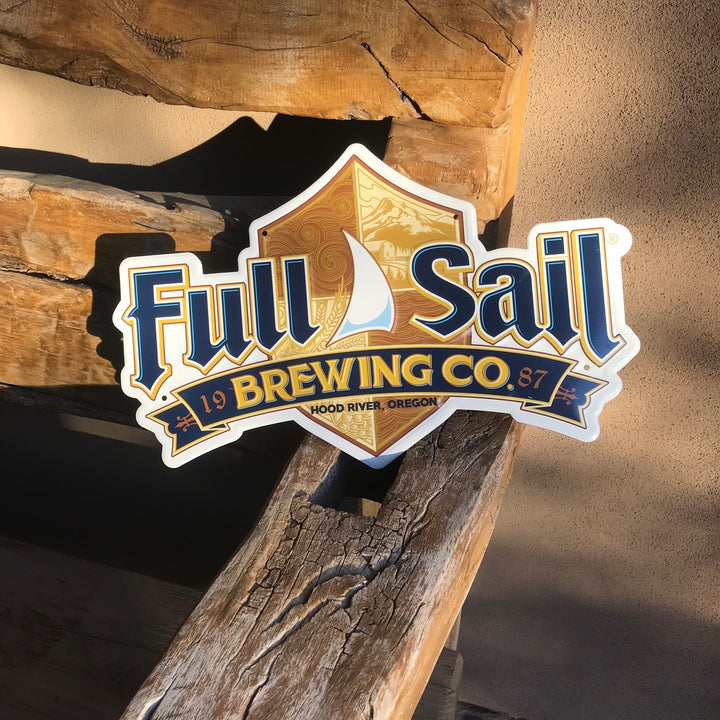 Full Sail Brewing Co Logo Tin Tacker Metal Beer Sign