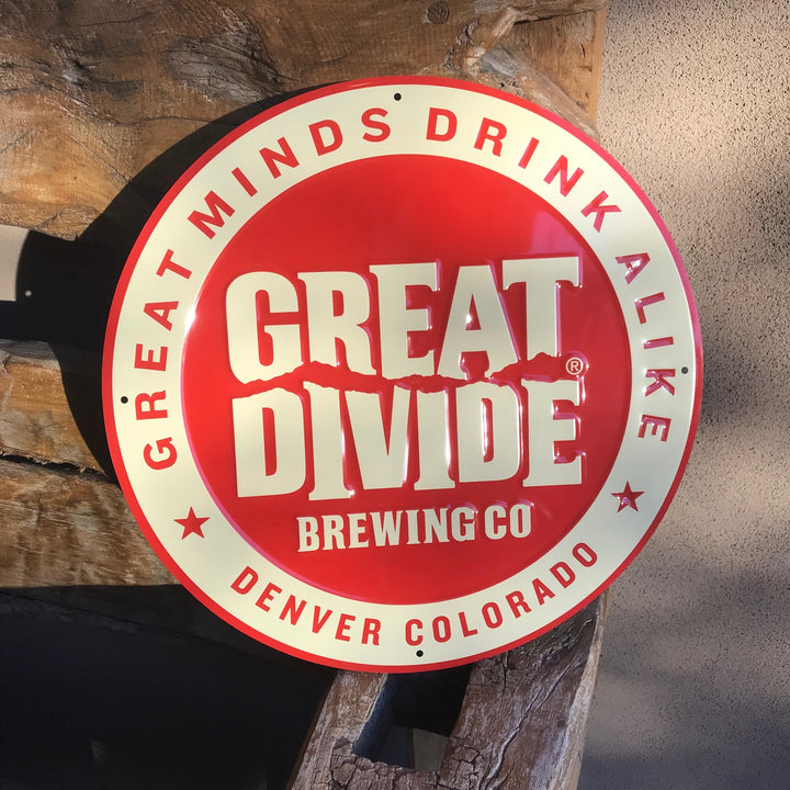 Great Divide Brewing Co Logo Tin Tacker Metal Beer Sign