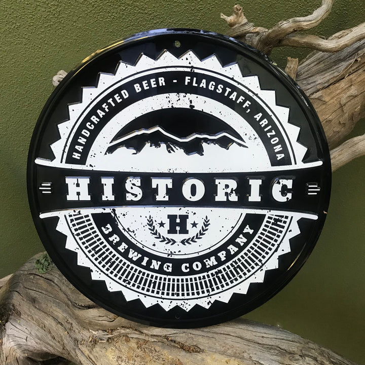 Historic Brewing Co Logo Tin Tacker Metal Beer Sign