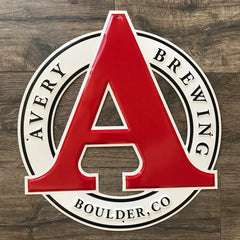 Avery Brewing Co New Logo 2018 Tin Tacker Metal Beer Sign