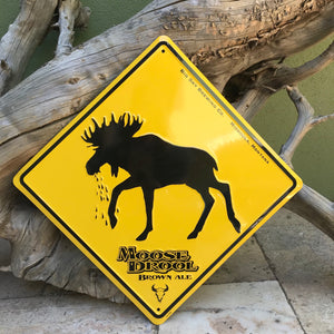 Big Sky Brewing Co Moose Crossing Tin Tacker Metal Beer Sign