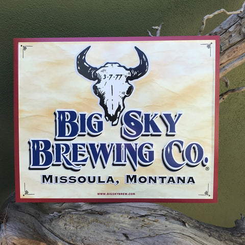 Big Sky Brewing Co Logo Tin Tacker Metal Beer Sign