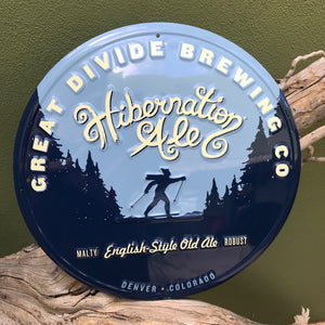 Great Divide Brewing Co Hibernation Ale Tin Tacker Metal Beer Sign