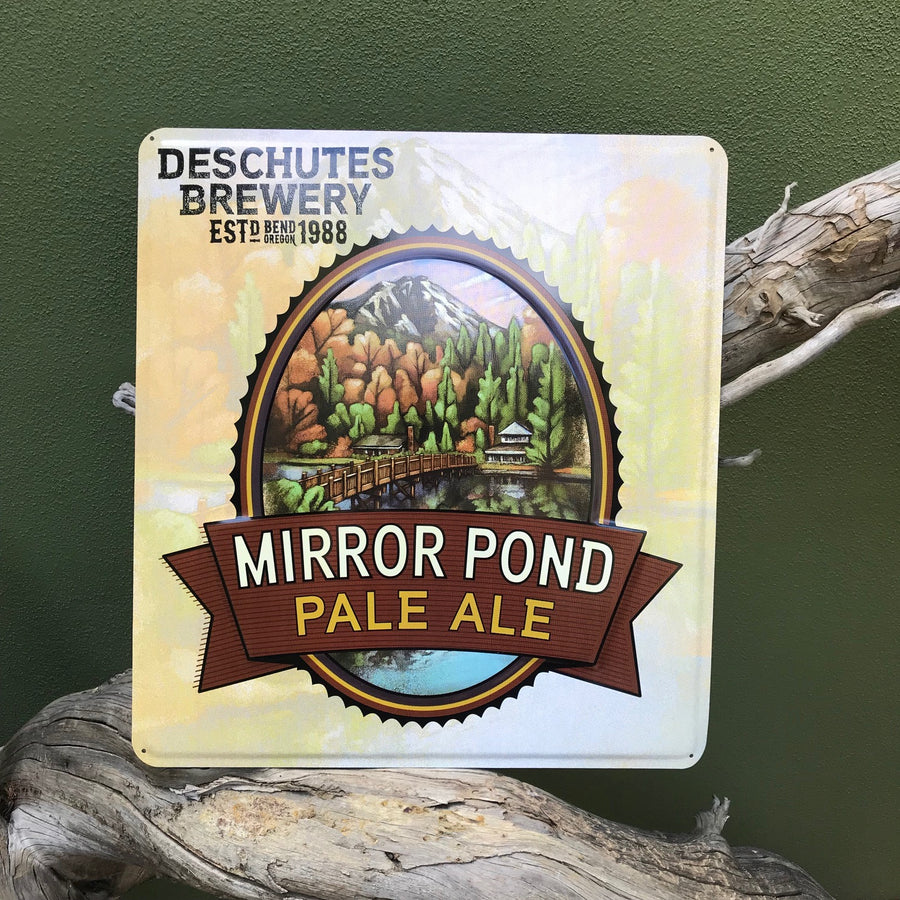 Deschutes Brewery Mirror Pond Pale Ale Embossed Aluminum Sign Tin Tacker