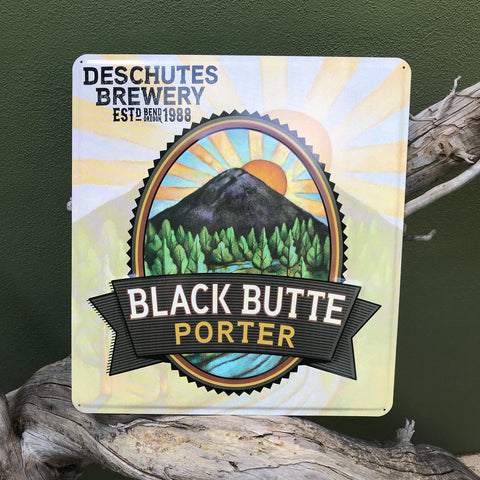 Deschutes Brewery Black Butte Porter Tin Tacker Metal Beer Sign