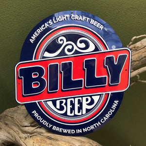 Billy Beer Light Craft Beer Logo Tin Tacker Metal Beer Sign