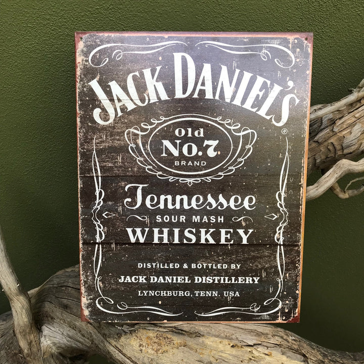 Vintage Look Jack Daniel's Old No. 7 Brand Tennessee Sour Mash Whiskey Tin Tacker Metal Sign