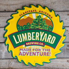 Lumberyard Brewing Co Tin Tacker Metal Beer Sign