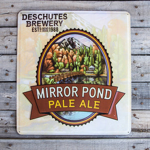 Deschutes Brewery Mirror Pond Pale Ale Tin Tacker Metal Beer Sign