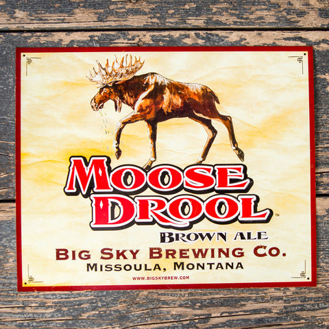 Big Sky Brewing Co Moose Drool Tin Tacker Metal Beer Sign