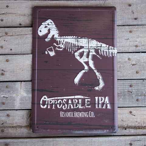 Historic Brewing Co Opposable IPA Tin Tacker Metal Beer Sign