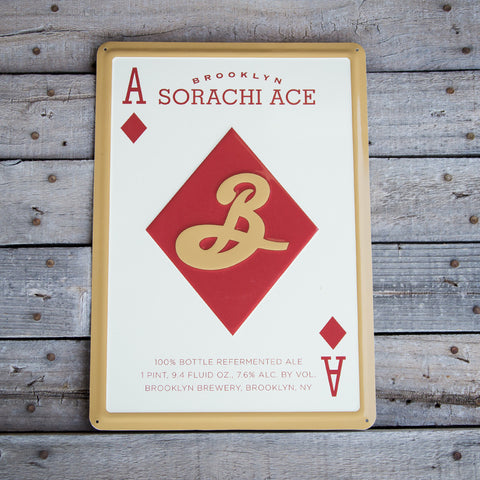 Brooklyn Brewery Sorachi Ace Tin Tacker Metal Beer Sign