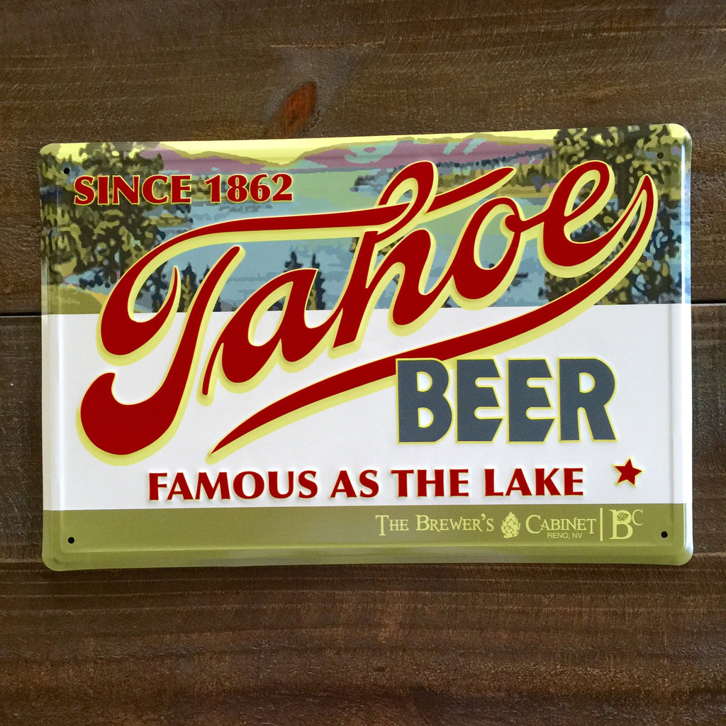 Tahoe Beer / The Brewer's Cabinet Metal Beer Sign Tin Tacker