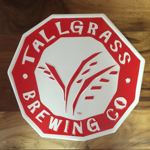 Tallgrass Brewing Co Logo Tin Tacker Metal Beer Sign