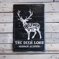 Historic Brewing Co Deer Lord Tin Tacker Metal Beer Sign