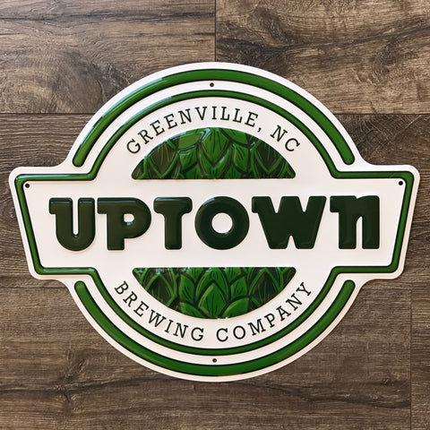 Uptown Brewing Co Logo Tin Tacker Metal Beer Sign