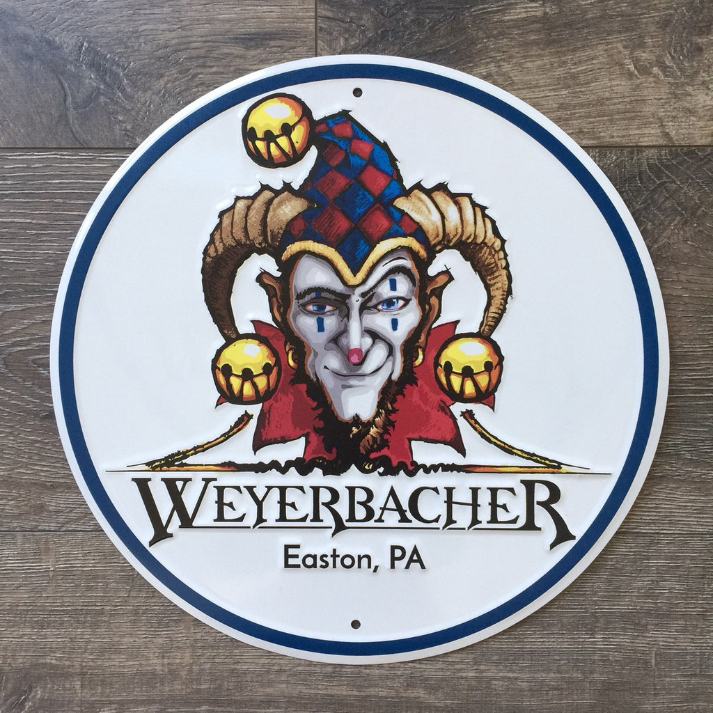 Weyerbacher Brewing Co Logo Tin Tacker Metal Beer Sign