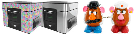 MCOR Arke 3D printer and full color toys