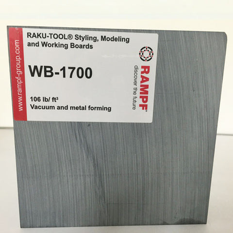 Raku Tool 106lb Tooling Board by Rampf - WB-1700 Dark Gray