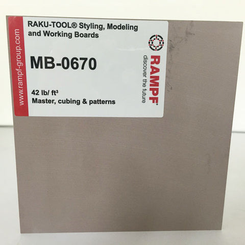 Raku Tool 42lb Modeling Board by Rampf - MB-0670 Brown