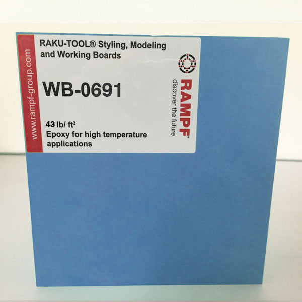 Raku Tool 43lb Epoxy Board by Rampf - WB-0691 Blue