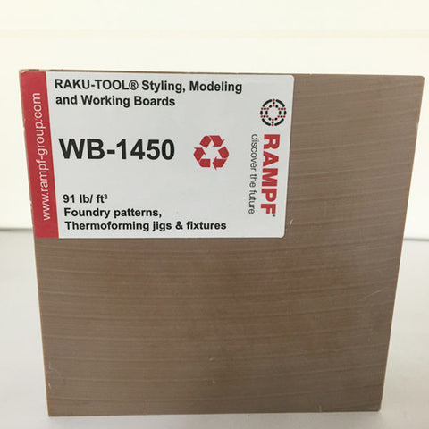 Raku Tool 91lb Recycled Foundry Board by Rampf - WB-1450 Brown