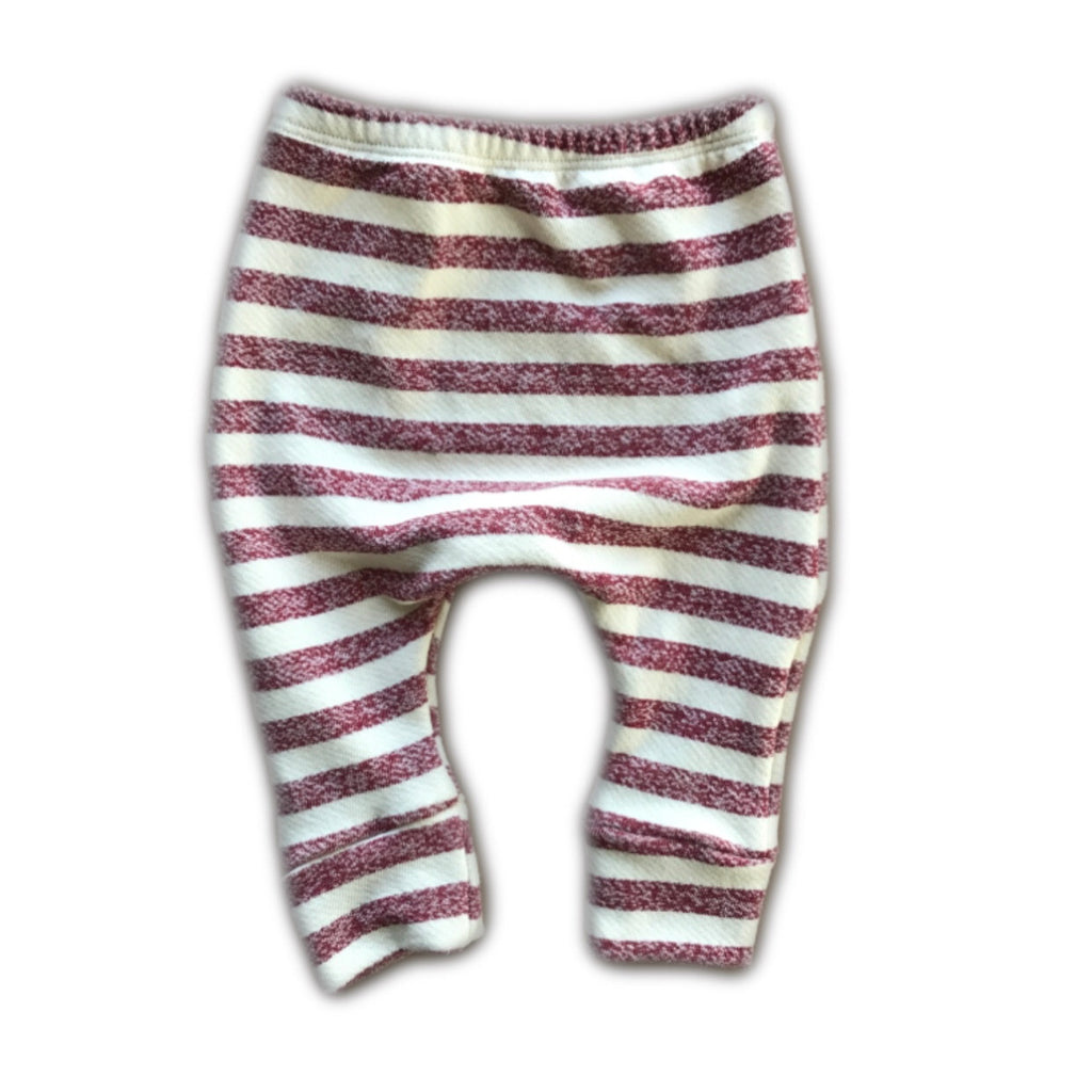 Red Stripe French Terry Knit Lounge Pants