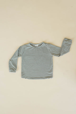 Olive Stripe Long Sleeve T Shirt