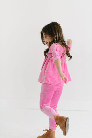 Perfect Pink Bamboo Velour Leggings