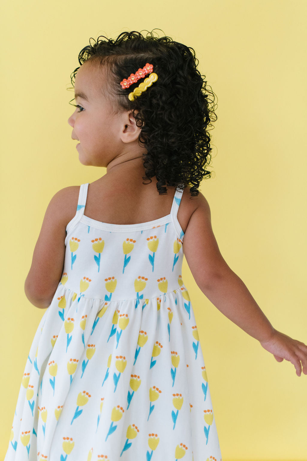 Sunny Tulips Twirly Dress