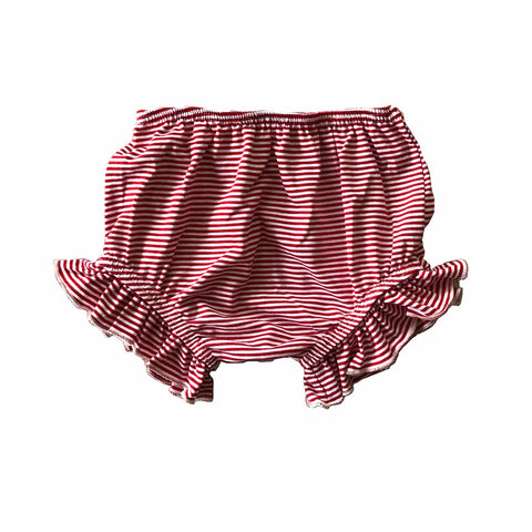 Cherry Stripe Ruffle Bloomers
