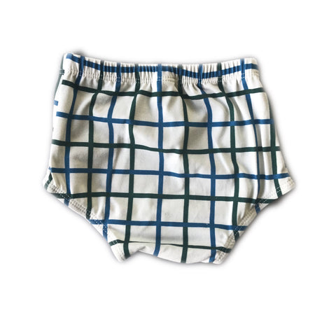 Grid in Pine and Blue Spruce Bloomers