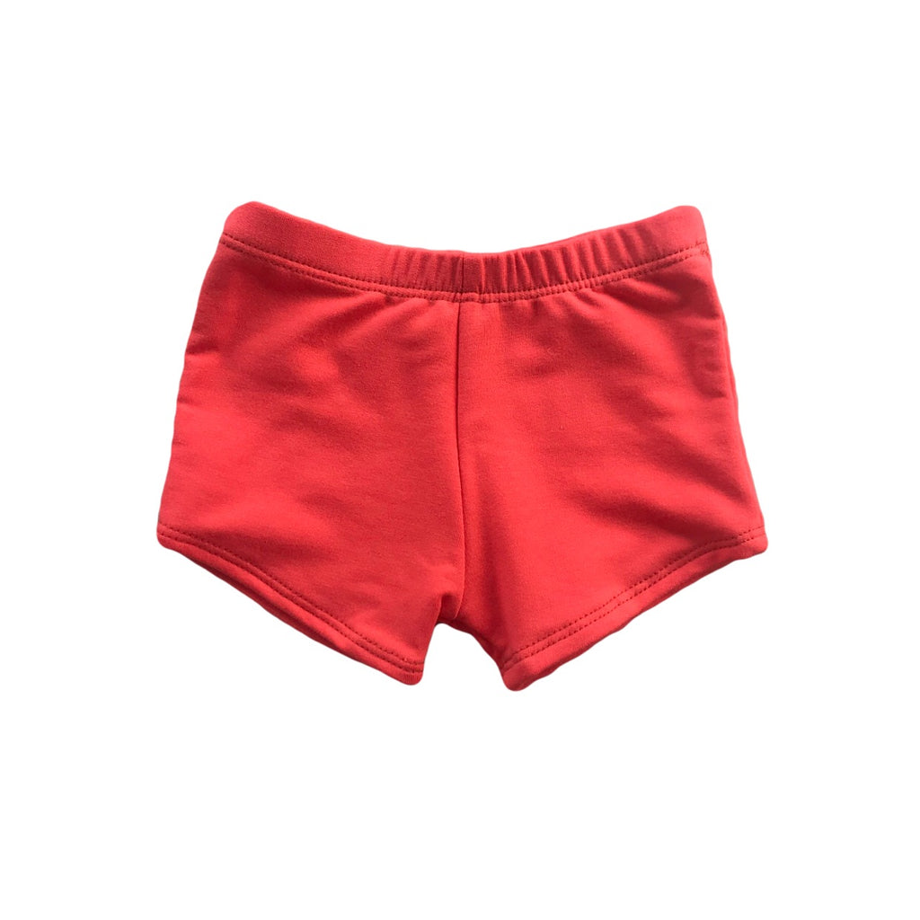Coral French Terry Shorts