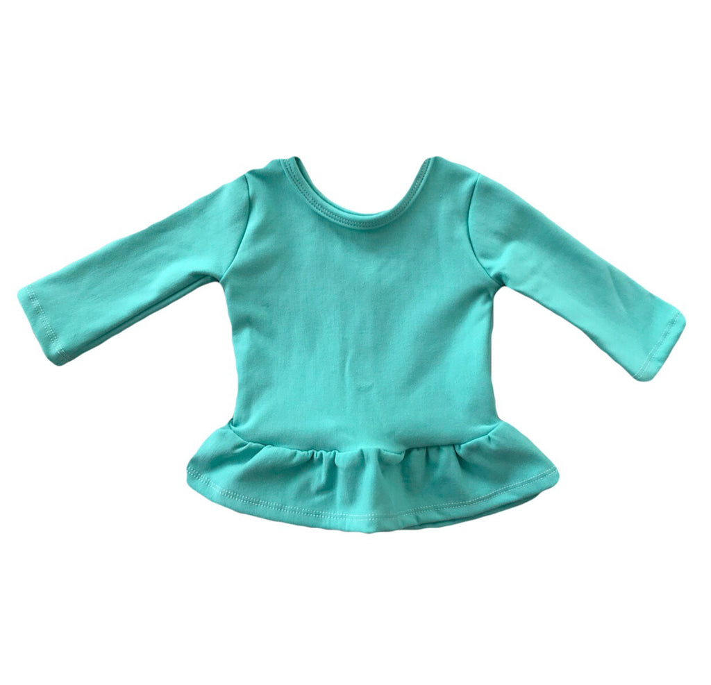 Mint Fleece Peplum Top