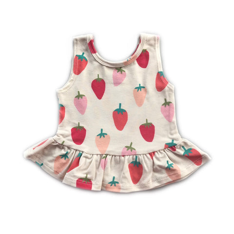 Wild Strawberry Peplum Tank