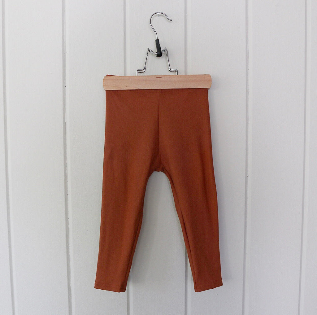 Toffee Bamboo Fleece Leggings