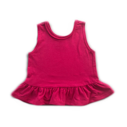 Raspberry Peplum Tank (Last One)